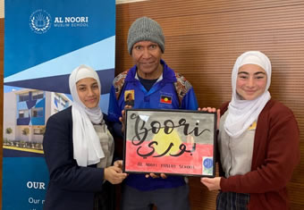 Al Noori students connect and engage with Indigenous Australian Boori Monty Pryor